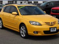 CARFAX One-Owner. Solar Yellow Mica 2004 Mazda Mazda3 s