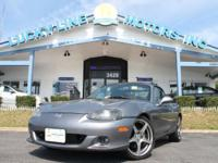 2004 MAZDA MX-5 SILVER SILVER WITH RED/BLACK 2-TONE