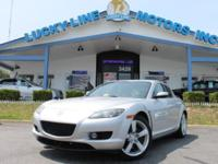 2004 MAZDA RX-8 SILVER WITH BLACK/GRAY 2TONE CLOTH