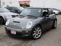 Boasts 34 Highway MPG and 25 City MPG! This MINI Cooper