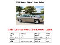 2004 Nissan Altima 2.5 4dr Sedan Sedan 4 Doors Silver
