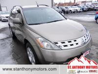 This 2004 Nissan Murano has a 3.5 liter V6 Cylinder
