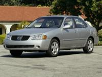 2004 Nissan Sentra 1.8 S  Options:  15 X 6 Steel Wheels