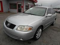 2004 NISSAN SENTR S SILVER ON GRAY AUTOMATIC WITH ONLY