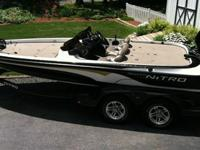 2004 Nitro 901 CDX 19' tournament bass boat. Great