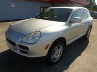2004 PORSCHE CAYENNE S SILVER ON BLACK AUTOMATIC WITH