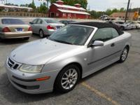 2004 SAAB 9-3 CONVERTIABLE SILVER ON BLACK AUTOMATIC