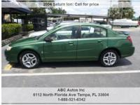 Saturn Ion 3 4dr Sedan Green 54935 I4 2.2L I42004 Sedan