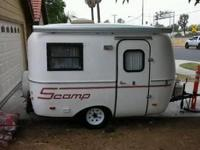 This scamp travel trailer is like new condition inside