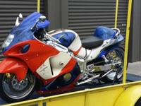2004 Suzuki Hayabusa no reserve with a 6x12 trailer
