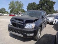 COMPLETE SUV FOR PARTS DARK GRY SUV 4.0L 4X2 AUTO TRANS