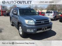 Blue 2004 Toyota 4Runner SR5 RWD 4-Speed Automatic with