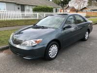 2004 Toyota Camry LE with 153k miles. Runs and drives