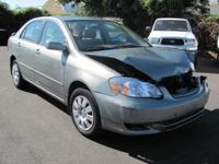 Options Included: N/A2004 TOYOTA COROLLA LE . FRONT END