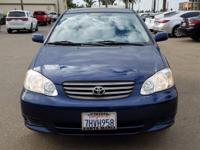 Options:  2004 Toyota Corolla Le|Blue|Le 5-Speed Manual