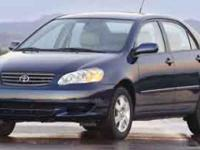Options:  2004 Toyota Corolla Le|Indigo Ink Pearl/Light