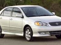 This 2004 Toyota Corolla S has an exterior color of GY.