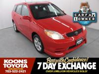 2004 Toyota Matrix XR Cosmic Blue Metallic CarFax 1