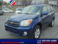 New Price! Clean CARFAX. Blue 2004 Toyota RAV4 AWD
