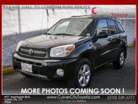 Options:  2004 Toyota Rav4 Base|Black|All Wheel Drive