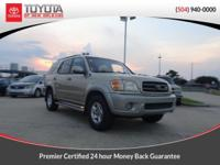 CARFAX One-Owner. Desert Sand Mica 2004 Toyota Sequoia