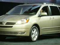 Options:  2004 Toyota Sienna Xle|/|V6 3.3L