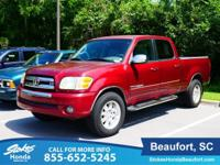2004 Toyota Tundra in Red. 4.7L V8 SMPI DOHC. Go