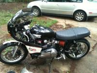 One of a kind Triumph Thruxton. 44,000 miles. New