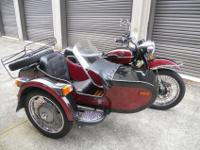 2004 URAL TROYKA MOTOTCYCLE WITH A SIDECAR FOR SALE. IT