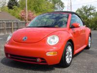 This is a very clean 2004 VW Beetle Convertible GLS