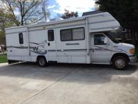 Class 'C' Motor Home Two power slide-out Rooms 6' each