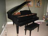 "Yamaha C1 5'3"" polished ebony baby grand piano"