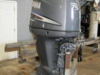 2004 Yamaha F 75 4 stroke outboard with only 141.9