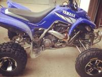 2004 Yamaha raptor 660 New wheels and tires New rear