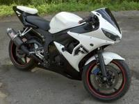 2004 YAMAH YZF R6 CUSTOM TWO TONE PAINT 17k CLEAN