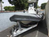 2004 Zodiac SRO 700 Inflatable boat with trailer