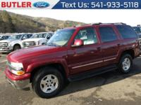 This 2004 Chevrolet Tahoe  has a V8, 5.3L; FFV high