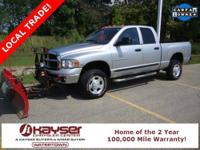 COMES WITH V-PLOW!!! HEMI Magnum 5.7L V8 SMPI and 4WD.