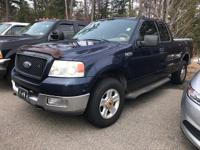 Blue CARFAX One-Owner. 2004 Ford F-150 XLT 4WD 4-Speed