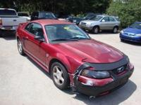 2004 Mustang V6, 2D Coupe, 3.8 L V6 EFI OHV, 4-Speed