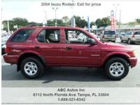 Isuzu Rodeo S 4dr SUV Red 113100 V6 3.2L V62004 SUV ABC
