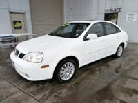 2004 Suzuki Forenza LX LX Sedan Absolute White I4 2.0L