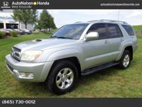 This 2004 Toyota 4Runner includes a CARFAX Buyback