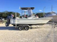 This 2005 20' Polar Bay Boat is powered by a 150hp