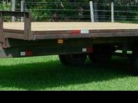 2005 20' tandem axle equipment trailer with NEW PT