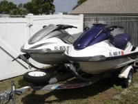 ;;''These are 2 FX140, 4 stroke, Yamaha jetskis with