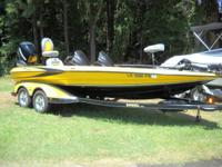 It has a Mecury Verado 250 four stroke. It is a double