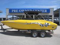 2005 Crownline 225 LPX Solid Yellow and good! 5.7 ltr