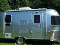 "Airstream Travel Trailer w/Rear 54"" x 75"" Bed, Rear"