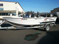 2005 Alumacraft 16' fishing boat, has 40 horse Mercury,